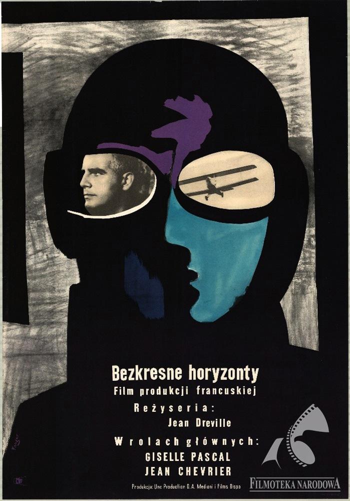 Plakat 7: Wojciech Fangor, Plakat do filmu Bezkresne Horyzonty, 1952