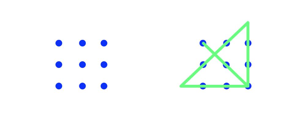 Nine dot problem