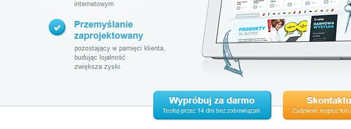 Niebieskie elementy na szarym tle przykłuwają uwagę - i-sklep.pl