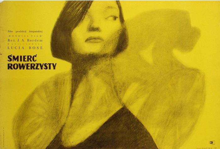 Anna Huskowska, Plakat do filmu Śmierć rowerzysty, 1957