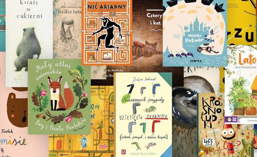 Okładka artykułu 35 pięknych książek dla dzieci ilustrowanych przez polskich artystów — Które zachwycą także dorosłych