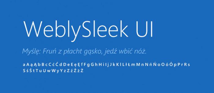 12 WeblySleek UI Darmowe fonty z polskimi znakami