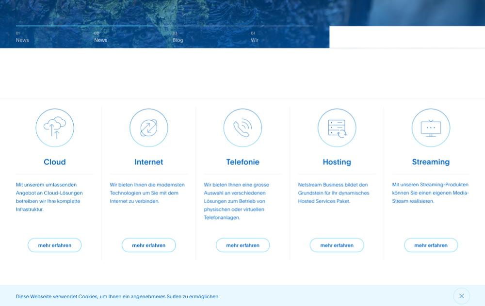 Tradycyjny układ strony internetowej