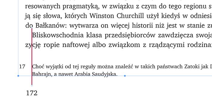 Wcięcie w przypisach i w tekście głównym ma być tej samej wielkości i wynosić min. ret stopnia pisma tekstu głównego