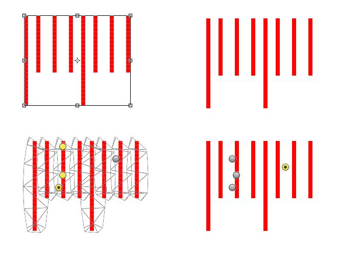 Z lewej strony grafiki z aktywnym zaznaczeniem, z prawej z ukrytym