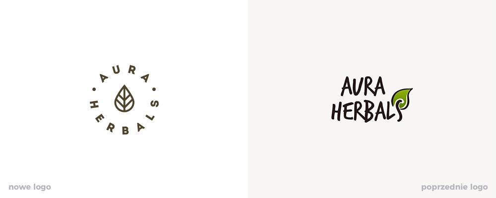 Identyfikacja wizualna Aura Herbals od less. studio
