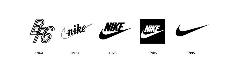 Ewolucja logo Nike