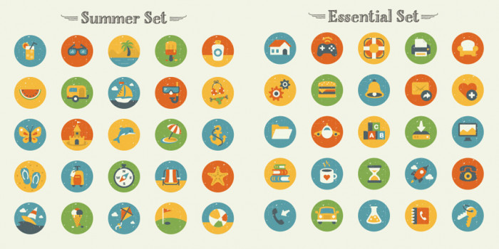 Summer-And-Essentials-Icon-Set