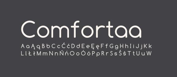 05 Darmowe fonty z polskimi znakami Comfortaa