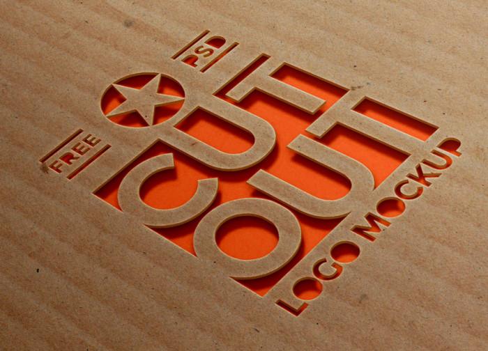 cardboard-cutout-logo-mockup