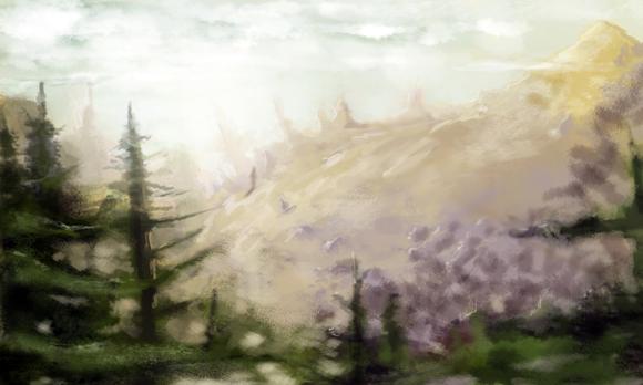 Rysunek Henryka wykonany na tablecie Intuos5