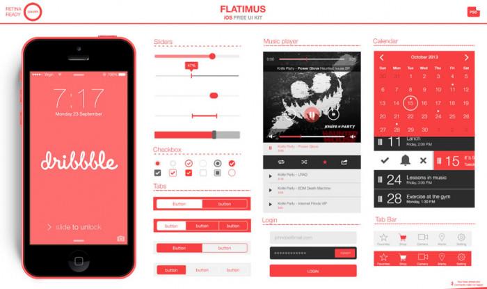 The-Flatimus-iOS-UI-Kit-(PSD)