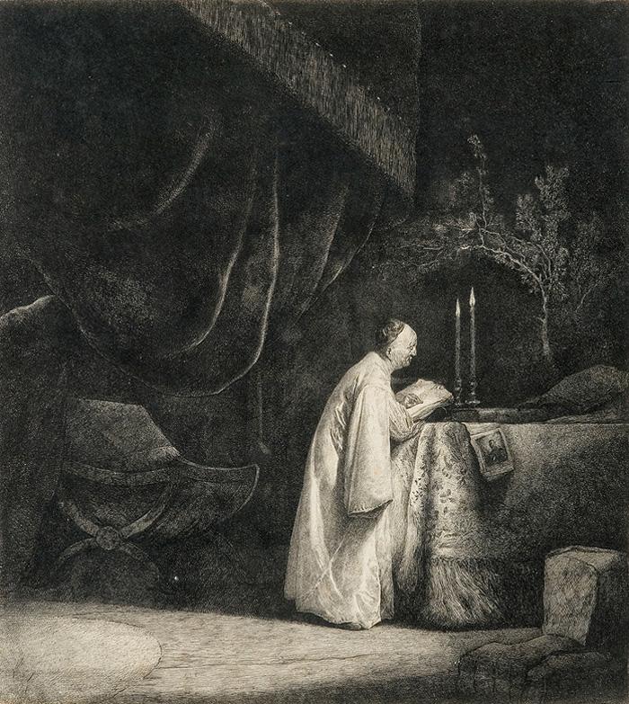 Starzec piszący (1781, akwaforta) Jan Piotr Norblin