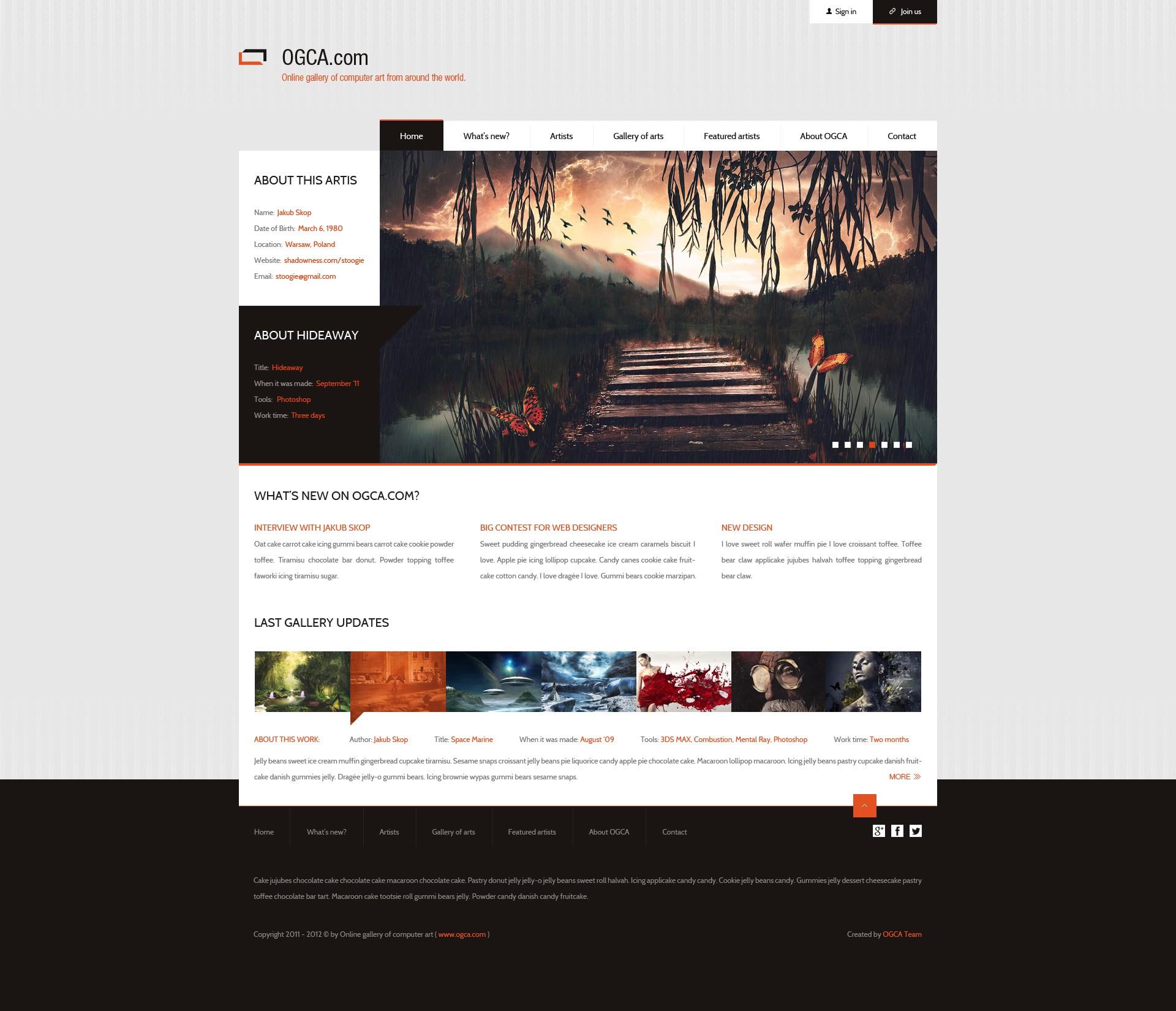 20 Tutorial webdesign, Efekt koncowy