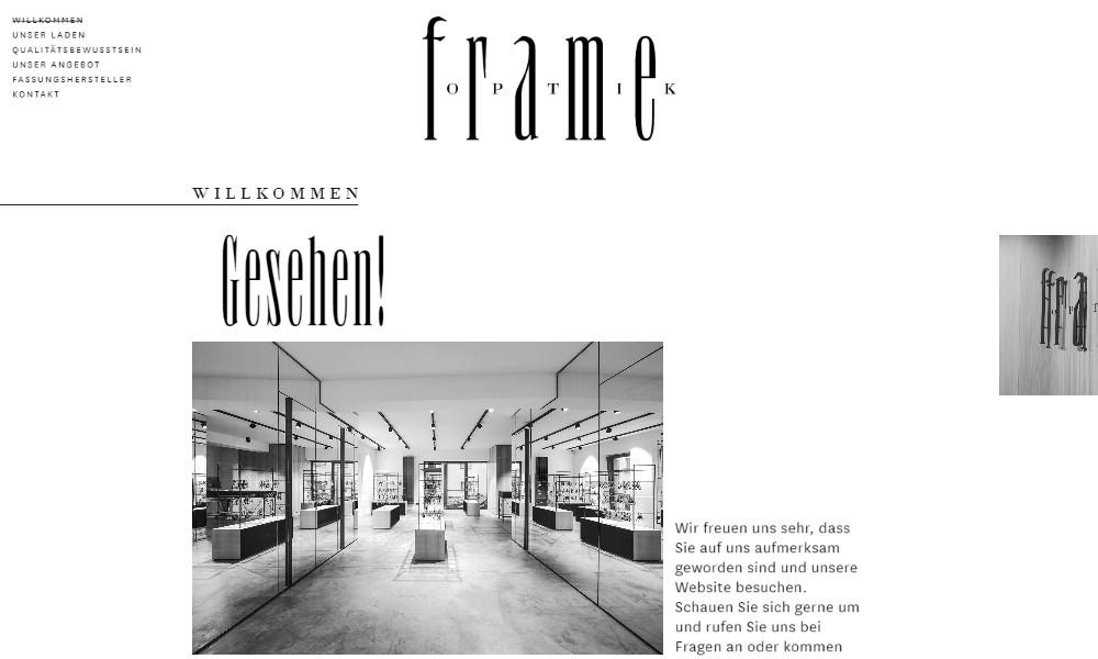 Frame - Przykład białej strony internetowej