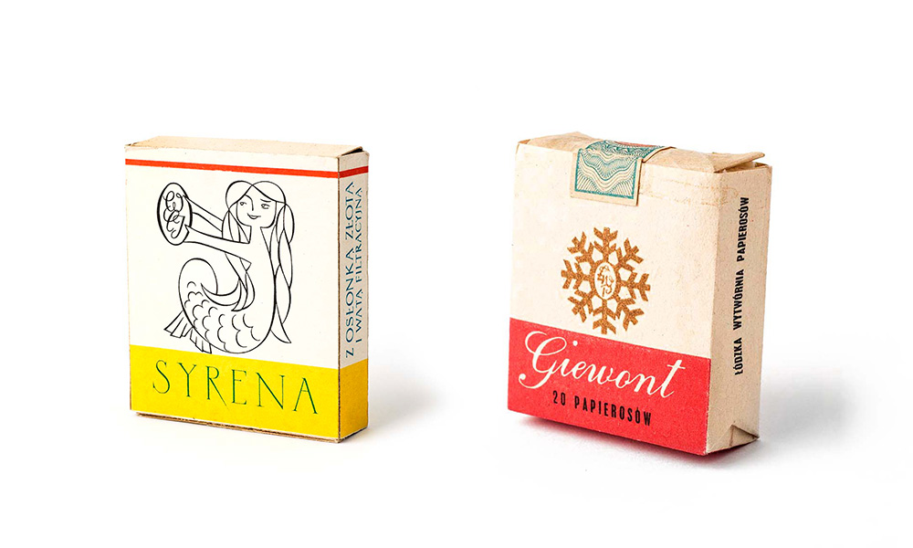 Opakowania papierosów zaprojektowane przez Karola Śliwkę