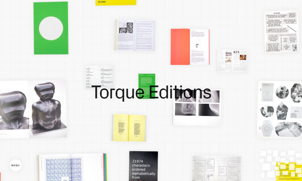 Inspirujące strony internetowe - Torque Editions