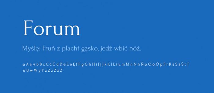 03 Forum Darmowe fonty z polskimi znakami