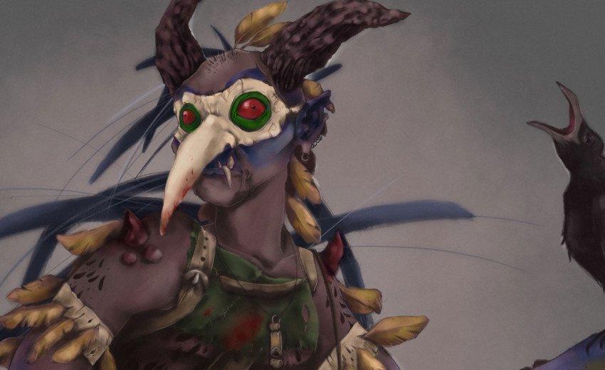 Okładka artykułu Diabeł w ptasiej skórze — Proces powstawania projektu concept art postaci konkursowej