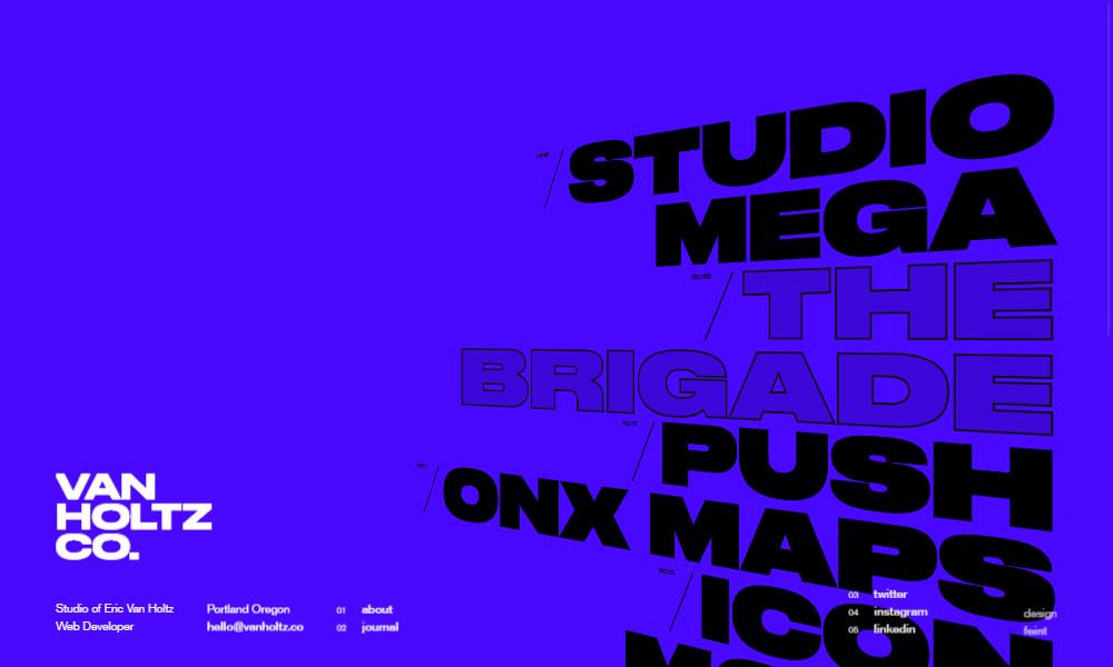 Nietypowa typografia na stronie internetowej