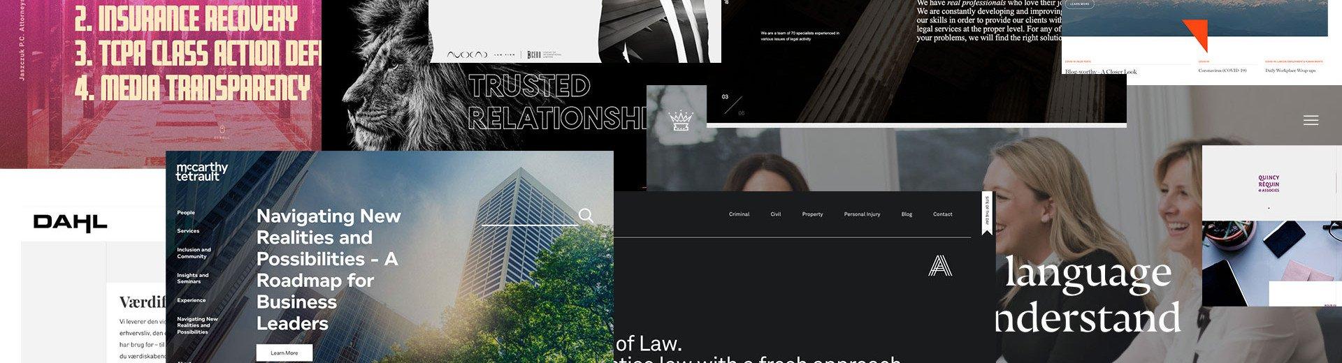 Okładka artykułu Ciekawe strony kancelarii prawniczych — Inspirujące strony internetowe - październik 2020