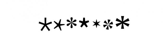 Ryc. 8. Różne kształty gwiazdki