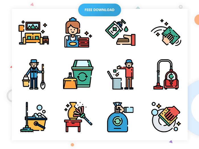 Ikony związane ze sprzątaniem