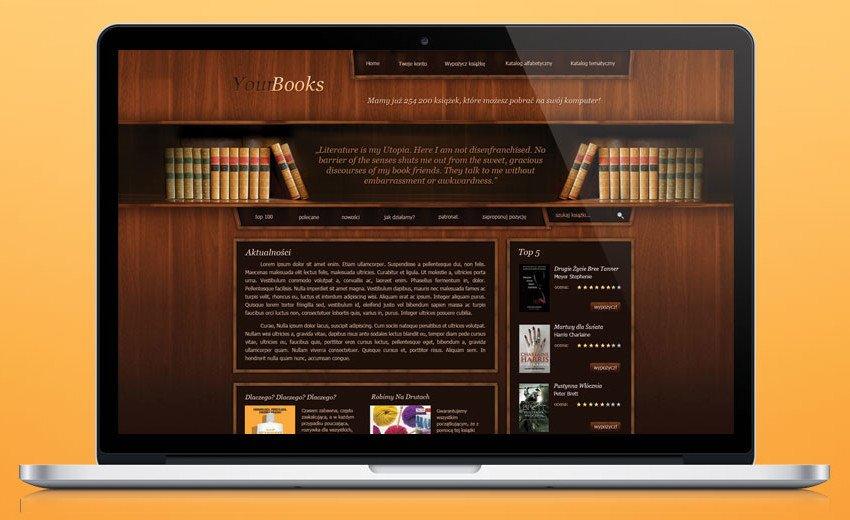 Okładka artykułu Layout strony biblioteki internetowej — Krok po kroku w programie Photoshop