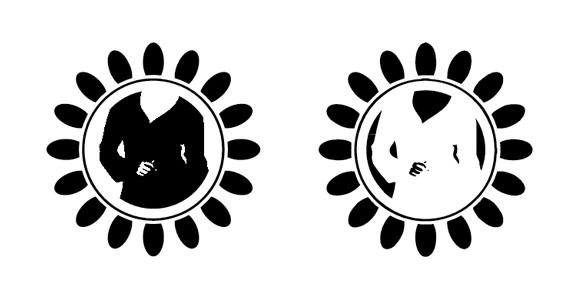 Wariacje logo. Werjsa podstawowa i negatyw
