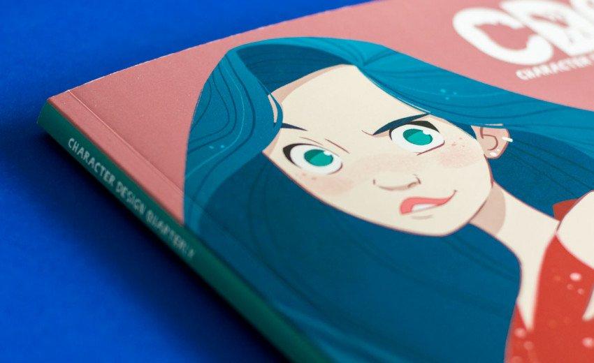 """Okładka artykułu """"Character Design Quarterly"""" — Recenzja kwartalnika od 3DTotal"""