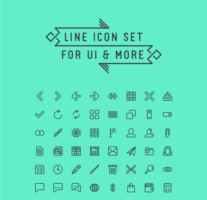 Line icon set for UI & more  Infinitely scalable