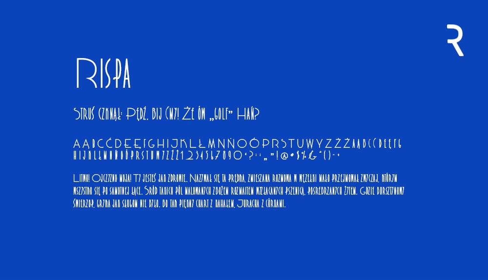 Darmowy font z polskimi znakami Rispa