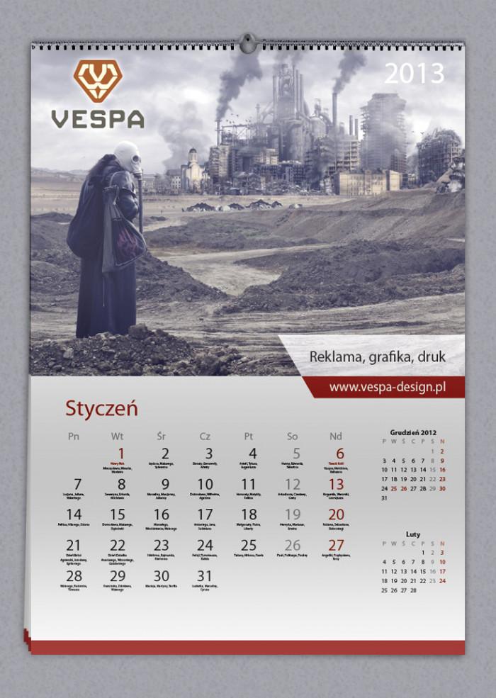 12 Projektujemy kalendarz z imieninami Indesign Kalendarium