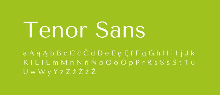 04 Tenor Sans Darmowe fonty z polskimi znakami