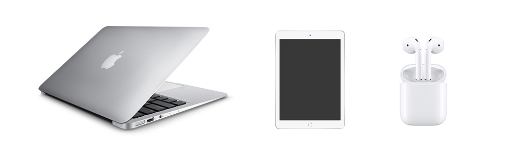 Biały sprzęt apple