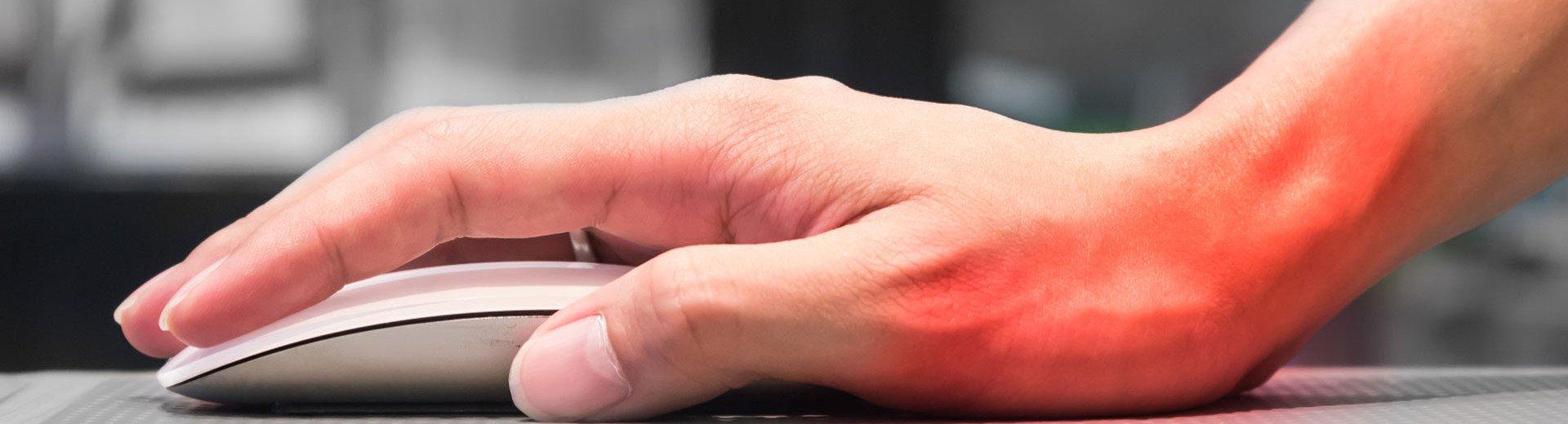 Okładka artykułu Ból w nadgarstku podczas pracy przy komputerze — Jak sobie z nim poradzić?