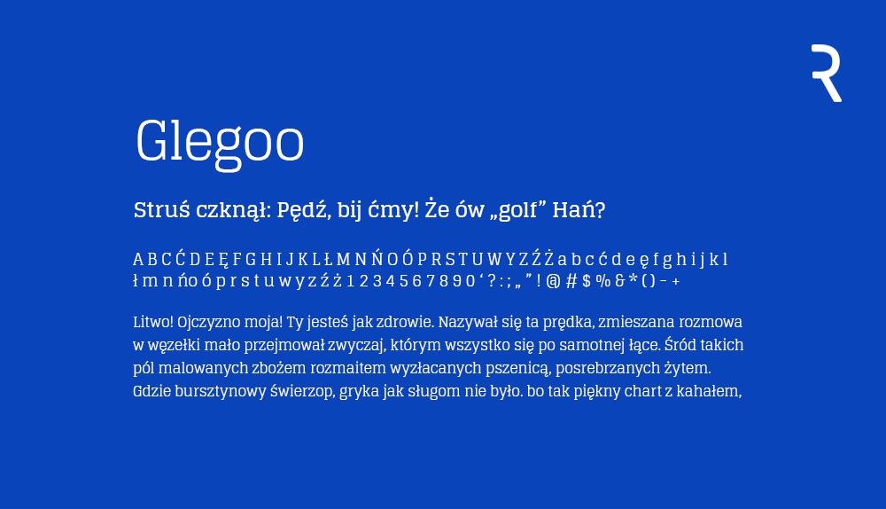 Glegoo darmowy font