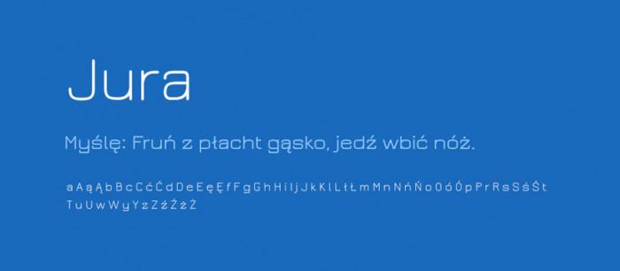 06 Jura Darmowe fonty z polskimi znakami