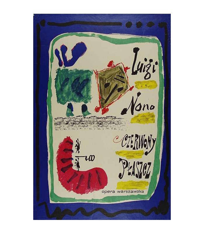 Jan Młodożeniec, Plakat do baletu-pantomimy Czerwony Płaszcz, 1962