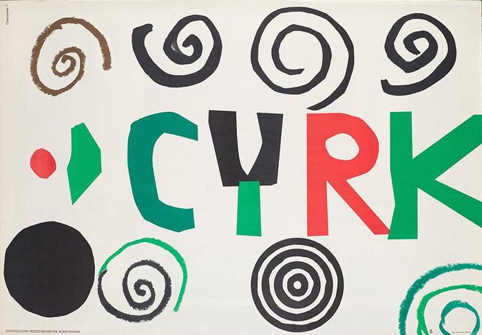 Plakat 1. Henryk Tomaszewski, Cyrk, 1961