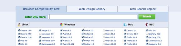 Browsershots i jego ogromna ilość przeglądarek