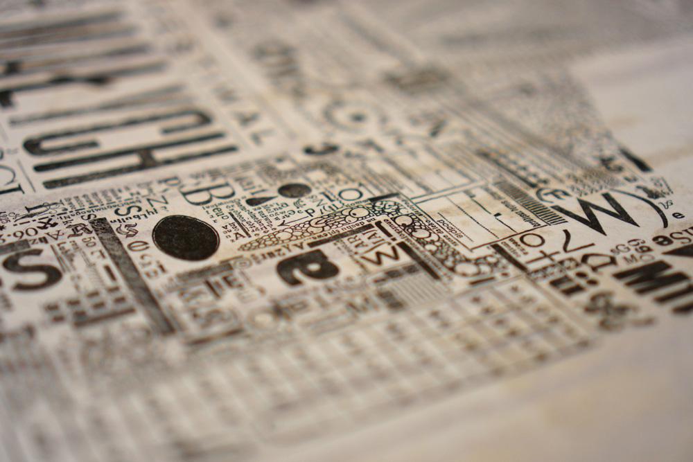 Afisz typograficzny, fot. Paulina Olszewska
