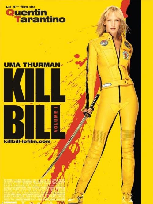 Nasycony żółty, to także kolor, jaki kojarzy się nam z filmem Kill Bill