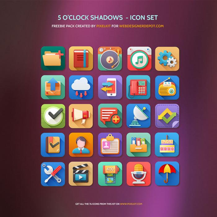 5-O'Clock-Shadows-Icon-Set