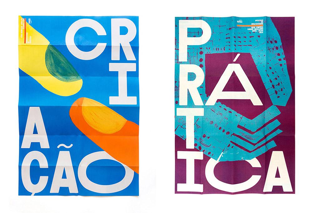 Oficinas de criatividade Sesc Pompeia 2018 — studio Bloco Grafico z São Paulo, Brazylia