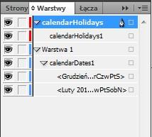 07 Projektujemy kalendarz z imieninami Indesign Kalendarium