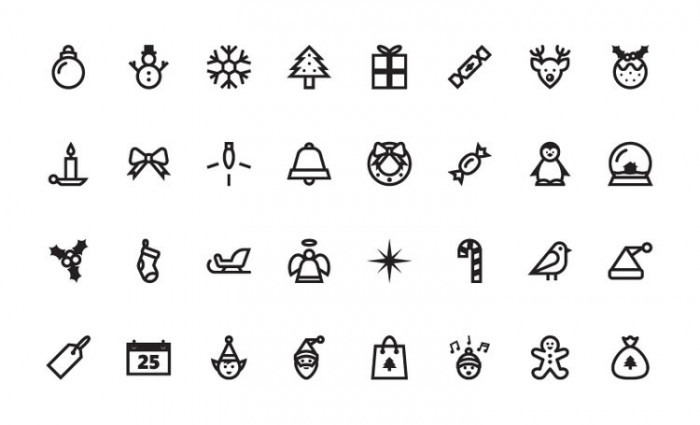 Free-Christmas-Vector-Icon-Set
