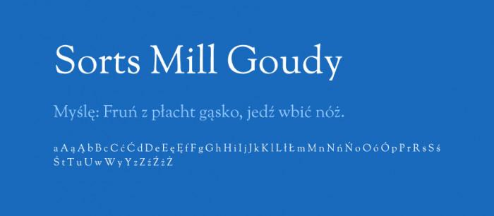 Sorts-Mill-Goudy-materialy-Darmowe-fonty-z-polskimi-znakami