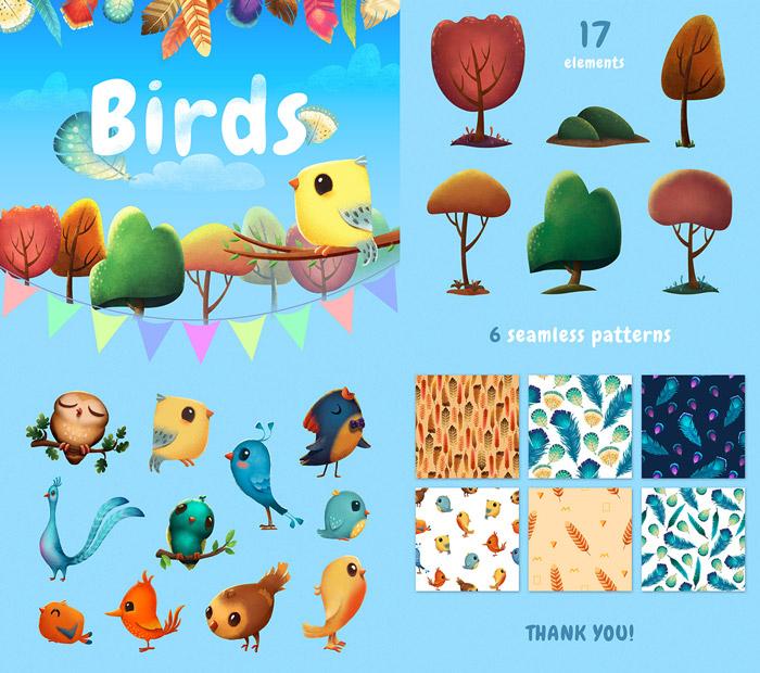 Ptaki - freebies, darmowe materiały