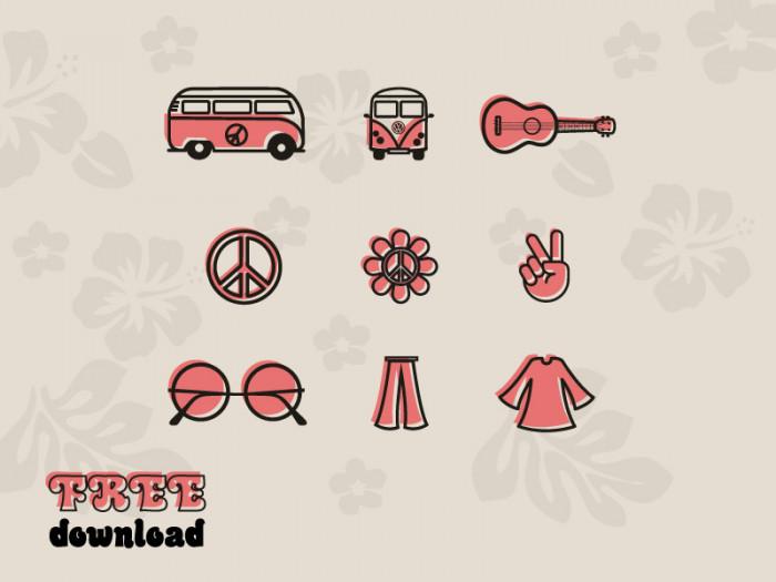 Hippie-icons